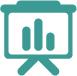Icona che rappresenta uno schermo rappresentante un grafico