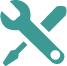 Icona rappresentante una chiave e un cacciavite incrociate