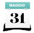 Icona raffigurante un calendario sul giorno 31 maggio